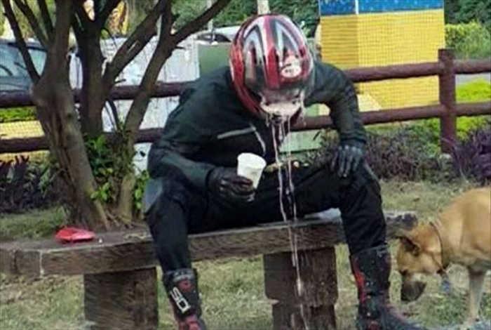Полный шлем кофе. | Фото: 24sata.