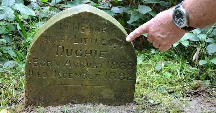 Мужчина нашёл маленькое 130-летнее надгробие, Мужчина нашёл надгробие в парке,  Сид Сондерс,