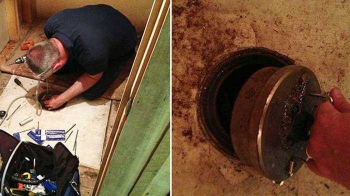 Мужчина нашел тайник, сделанный его дедушкой и бабушкой-20 фото-